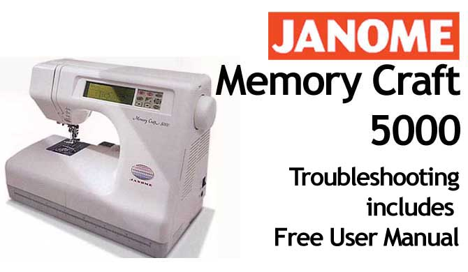 Troubleshooting Janome MC 5000